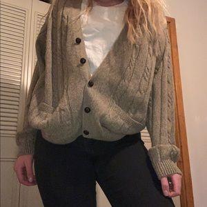 Vintage Light brown Knit Cardigan 100% acrylic